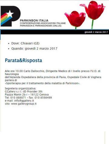 Parkinson Italia 10 febbraio 2017